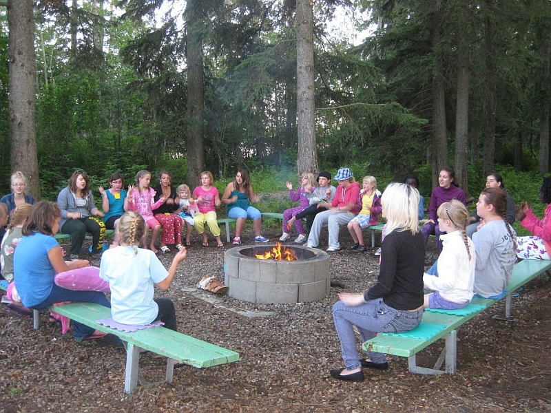Camp Wohelo Camp Fire